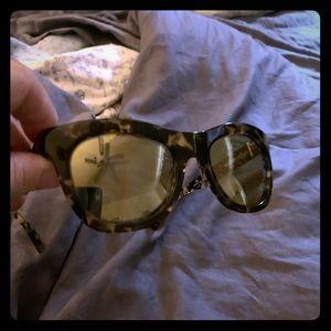 J Crew Tortoise mirrored sunglasses - original box